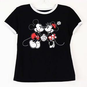 DISNEY Black Mickey and Minnie T-Shirt